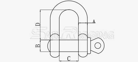 JIS Type D Shackles, shackle, load binder, eye bolt, turnbuckle, hook, wire rope clip, nut, bolt, metal clip, rigging hardware, factory, manufacturer, supplier